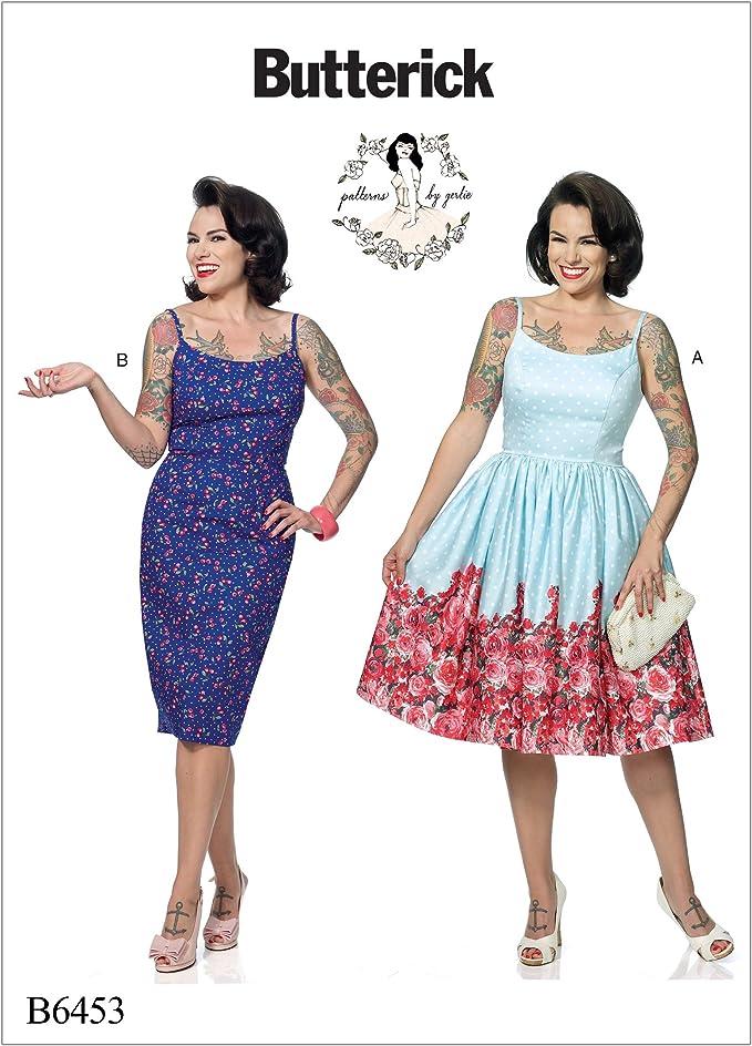 1950s Sewing Patterns | Dresses, Skirts, Tops, Mens Butterick Patterns 6453 E5Misses DressSizes 14-22 Tissue Multicoloured 17 x 0.5 x 22 cm £8.25 AT vintagedancer.com
