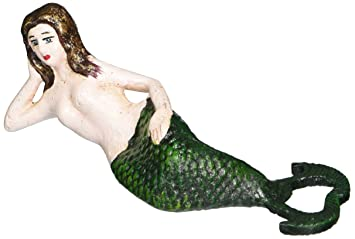 single Kitchen, Dining & Bar Design Toscano On The Rocks Mermaid Cast Iron Bottle Opener