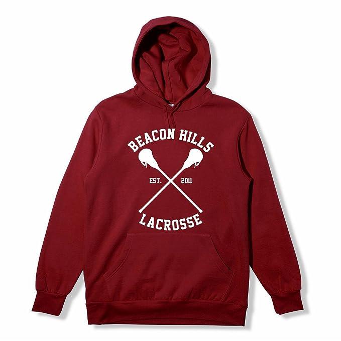 MyShirt Beacon Hills - Sudadera con capucha, diseño inspirado en la serie Teen Wolf, Dylan O Brien Stiles, disponible en tallas XS-XXL, color granate: ...