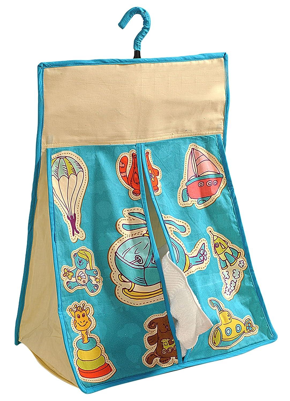 Yuga Animal Theme 100% Cotton Twill Hanging Diaper Bag Nappy Stacker Organizer