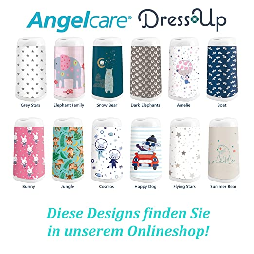 Angelcare Dress-Up Windeleimer mit Bezug Flying Stars NEU