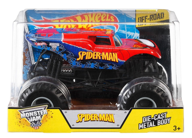 Amazon Com Hot Wheels Monster Jam Die Cast Spider Man