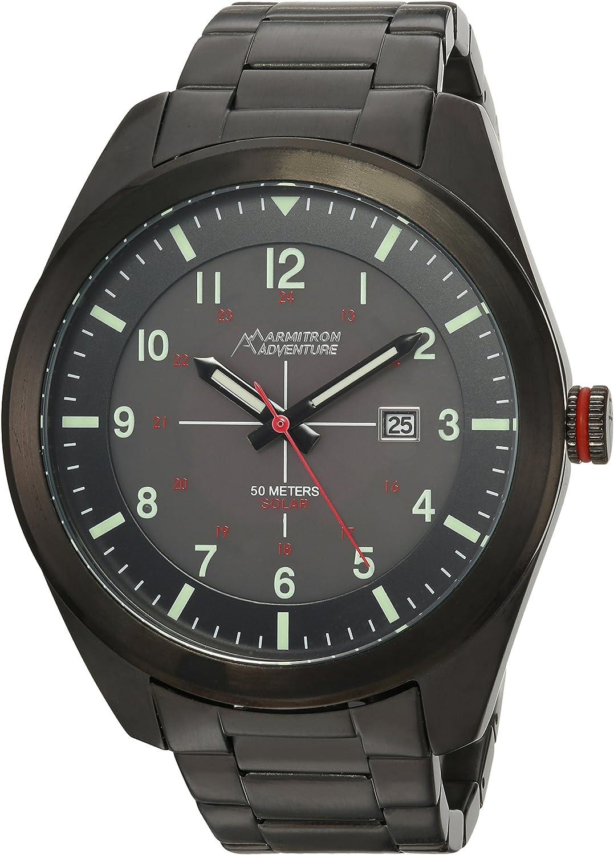 Armitron Adventure Men s AD 1000BKTI Solar Powered Date Function Dial Black Bracelet Watch
