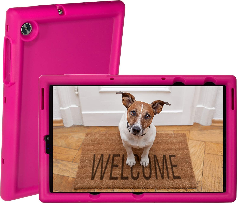 BobjGear Rugged Tablet Case for Lenovo Tab M10 FHD Plus 10.3 inch (TB-X606F) Premium Washable Silicone, Kid Friendly, Shockproof (Rockin' Raspberry)