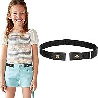 WERFORU Cinturón elástico sin hebilla para niños y niñas, cinturón de infancia sin hebillas, hasta 24 pulgadas.