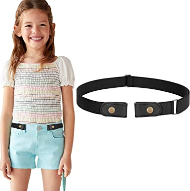 No Buckle Stretch Adjustable Belts for Girls Boys Back to School Supplies by WHIPPY Buckle Free Elastic Kids Toddler Belt