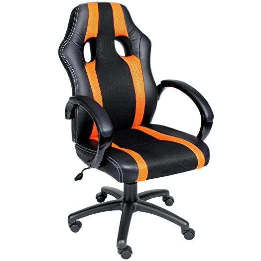deuba office chair racing design gaming gamers computer desk chair pu leather