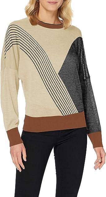 Sisley V Neck Sweater L//S Maglione Donna
