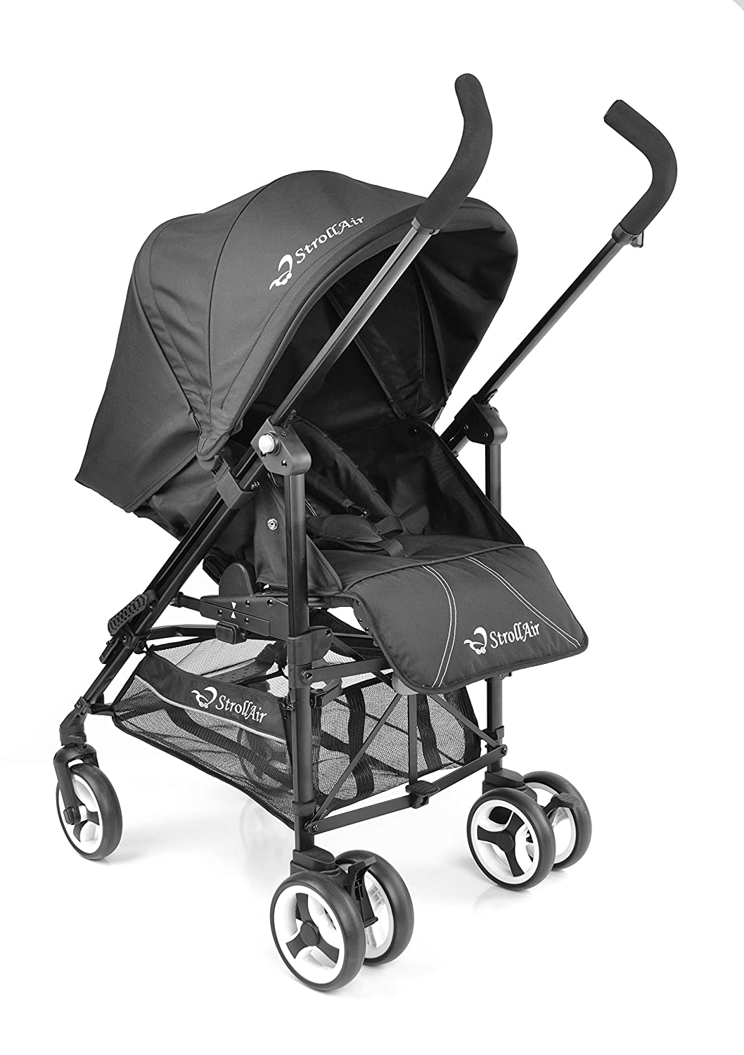 StrollAir ReVu Best Reversible Travel System Umbrella Stroller - Lightweight UV50 (Black) StrollAir Inc. SU55577B