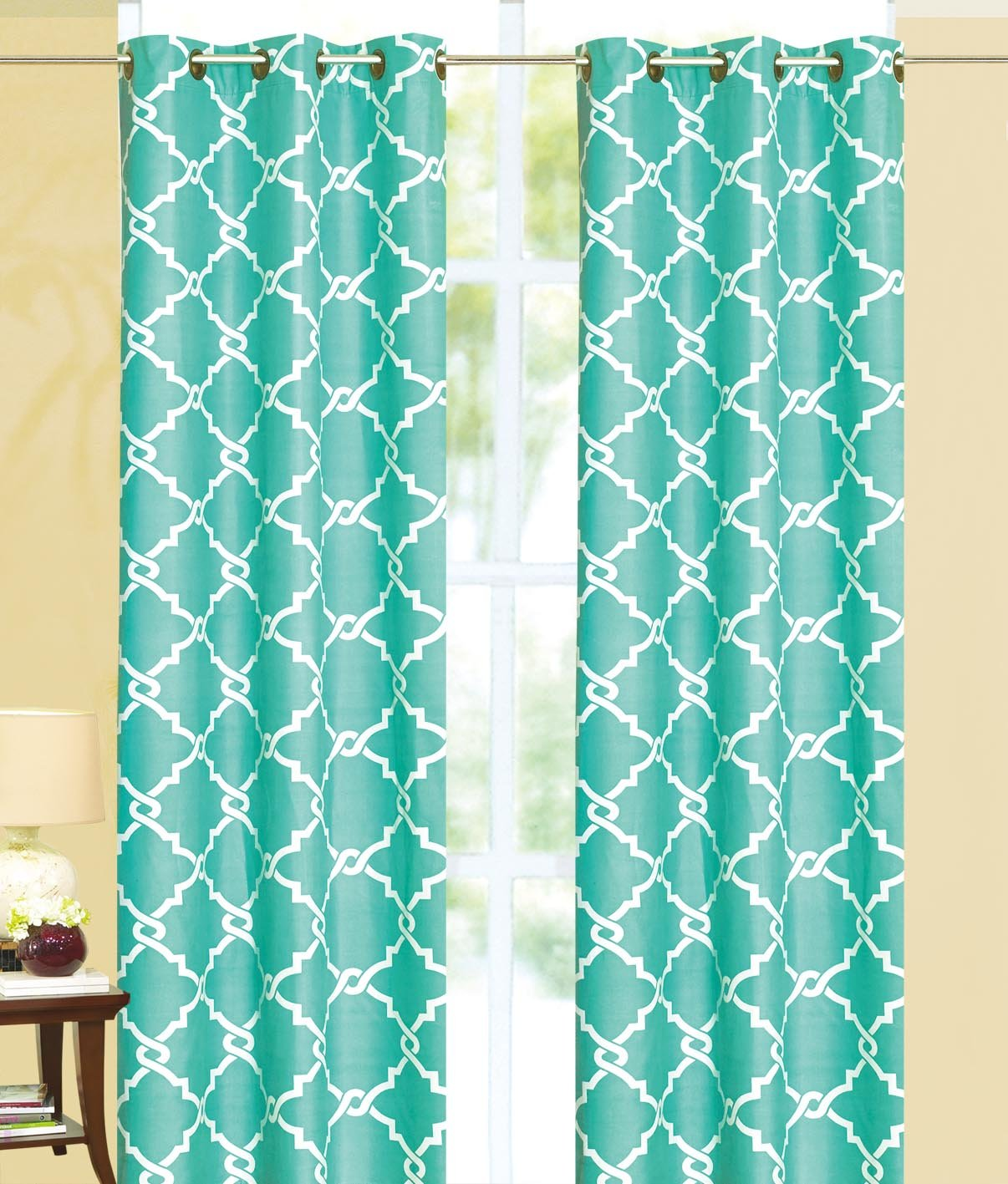 Ace 21 Geometric Modern Print Insulated 100% Thermal Blackout Window Grommet Curtain Panel
