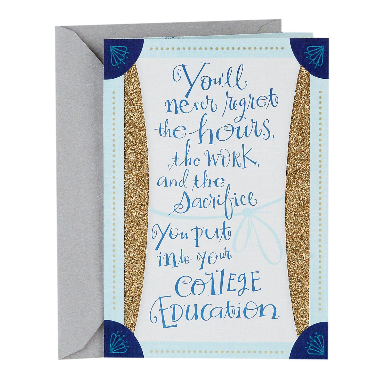 Amazon Hallmark College Graduation Greeting Card Blue And