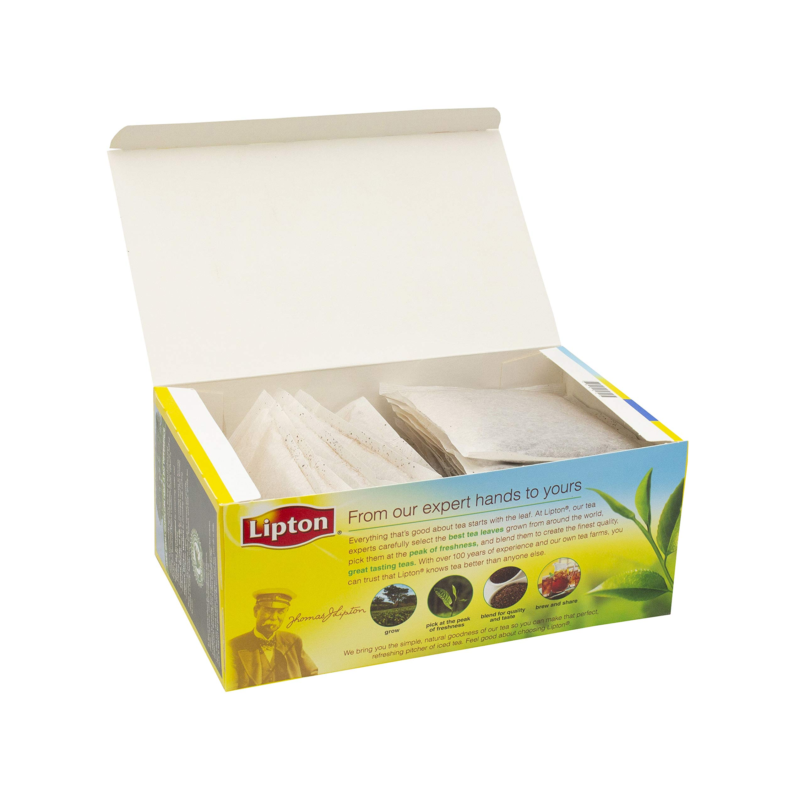 Lipton Sweet Iced Tea Bags Made with Tea Leaves Sourced from Rainforest Alliance Certified Farms, 1 gallon, 2x Pack of 24 by Lipton