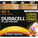 Duracell Plus Power Type 9V Alkaline Batteries, Pack of 12