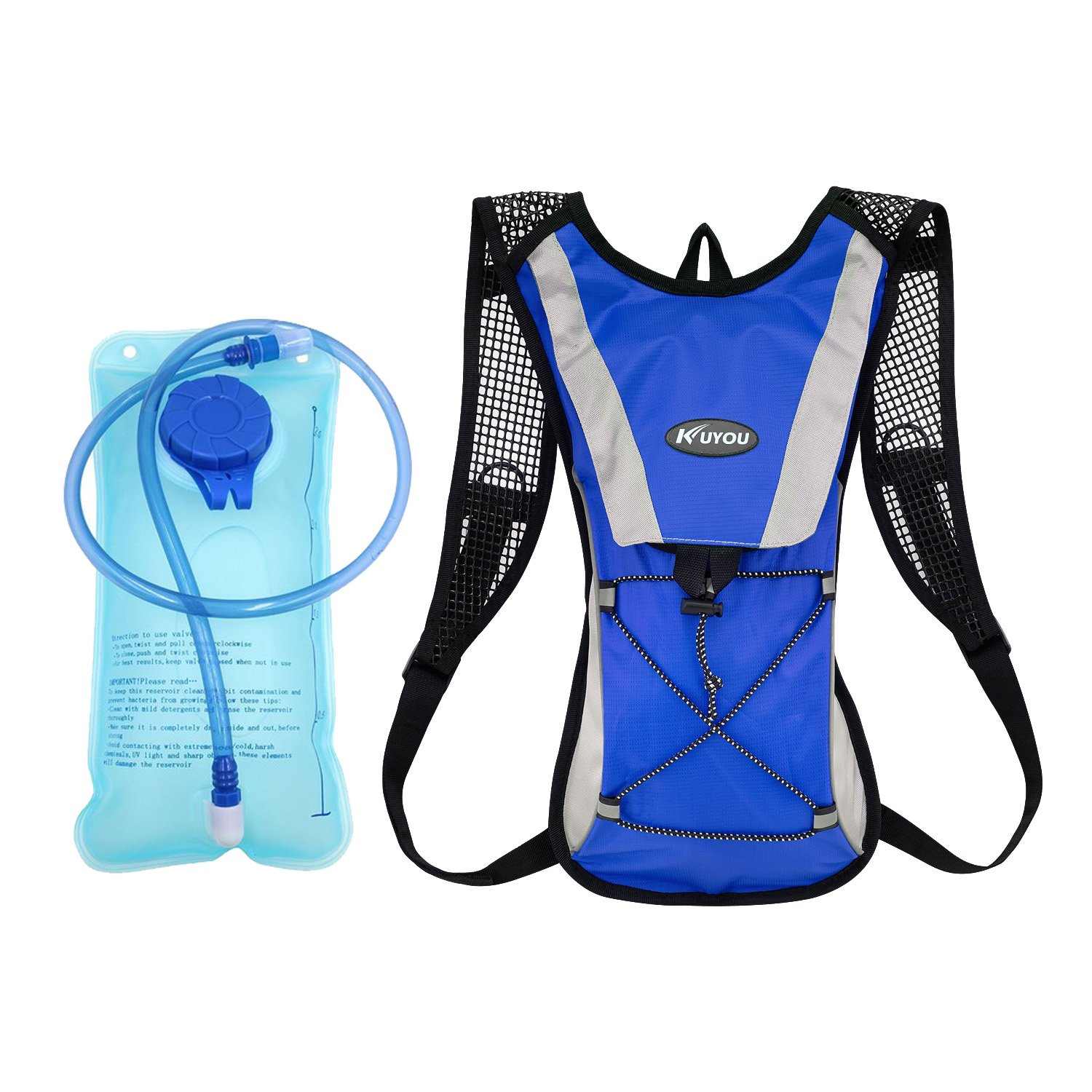 KUYOU Hydration Pack,Water Backpack with 2L Water Bladder Perfect for Running Cycling Hiking Climbing Pouch