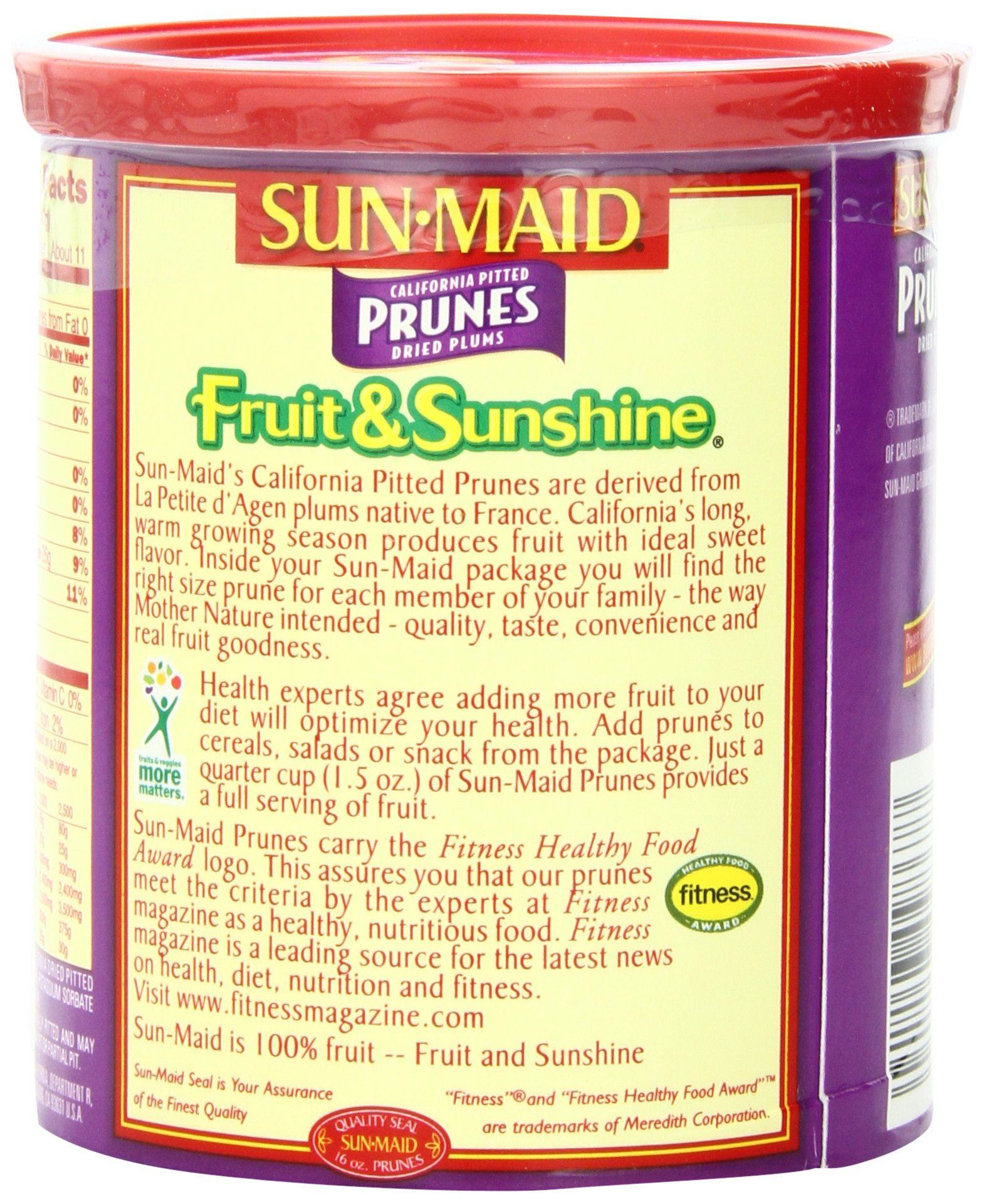 Sun Maid California Pitted Prunes, 16-Ounce Canisters (Pack of 4) by Sun Maid (Image #4)