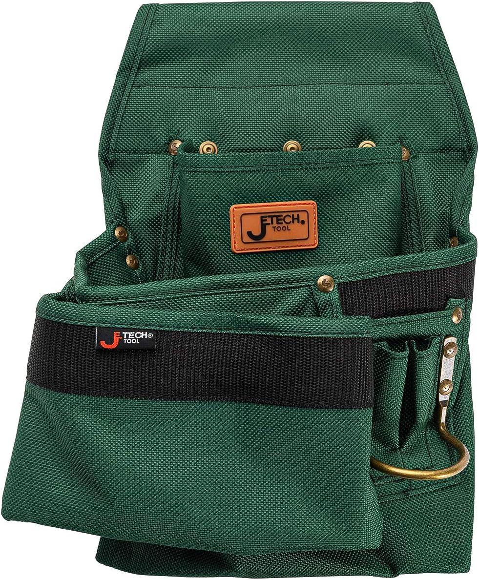 Jetech 4 Pocket Tool Pouch - Heavy Duty Waist Belt Hanging Utility Bag