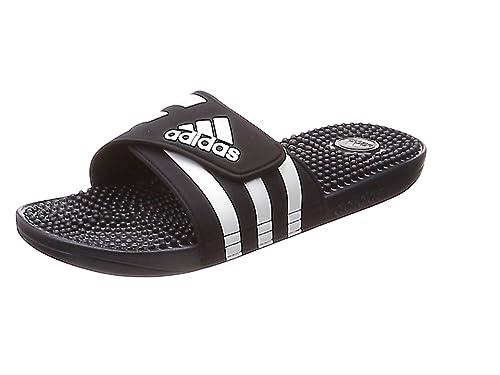 Mens Adidas Adissage Black Slides Shower Sandals Athletic Sport F35580 Size 6 10 | eBay
