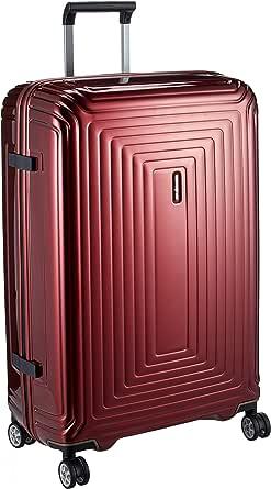 Samsonite Aspero Hard Side Spinner Luggage, Metallic Red, 75 Centimeters