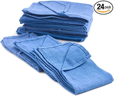 100 PACK terrycloth shop rags towels cleaning wiping COTTON janitorial 12x12
