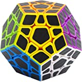 Speed Cube Megaminx 3x3, LSMY Puzzle Magic Cubes Carbon Fiber Sticker Toy
