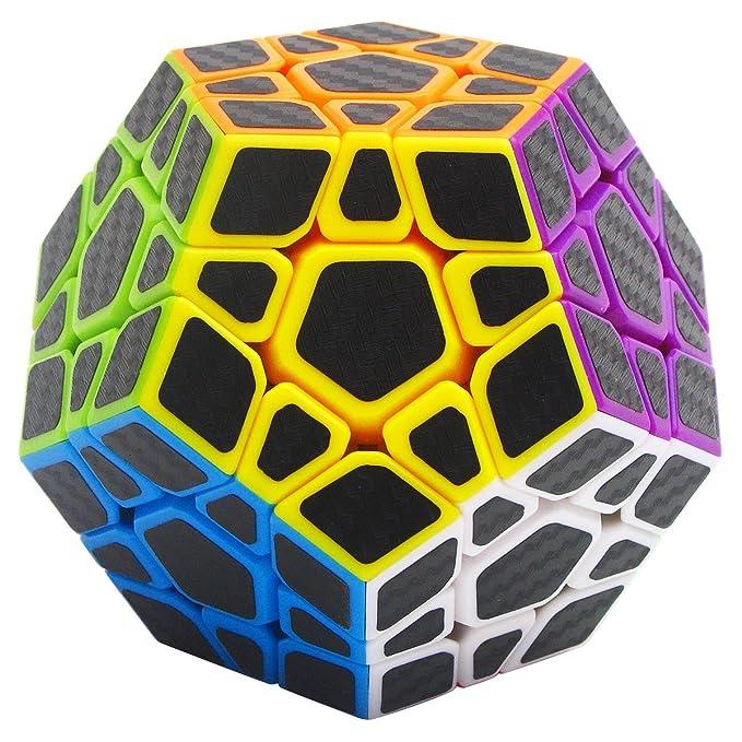 23 opinioni per Speed Cube Megaminx 3x3, LSMY Puzzle Magico Cubo Carbon Fiber Sticker Giocattolo