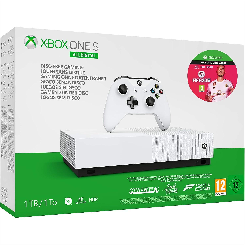 Xbox One S All-Digital Edition + FIFA 20 Xbox One - Download Code - Xbox One [Importación inglesa]: Amazon.es: Videojuegos