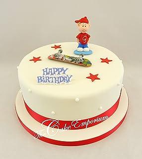 Swell Skateboard Skateboarding Skateboarder Personalised Cake Topper Funny Birthday Cards Online Bapapcheapnameinfo