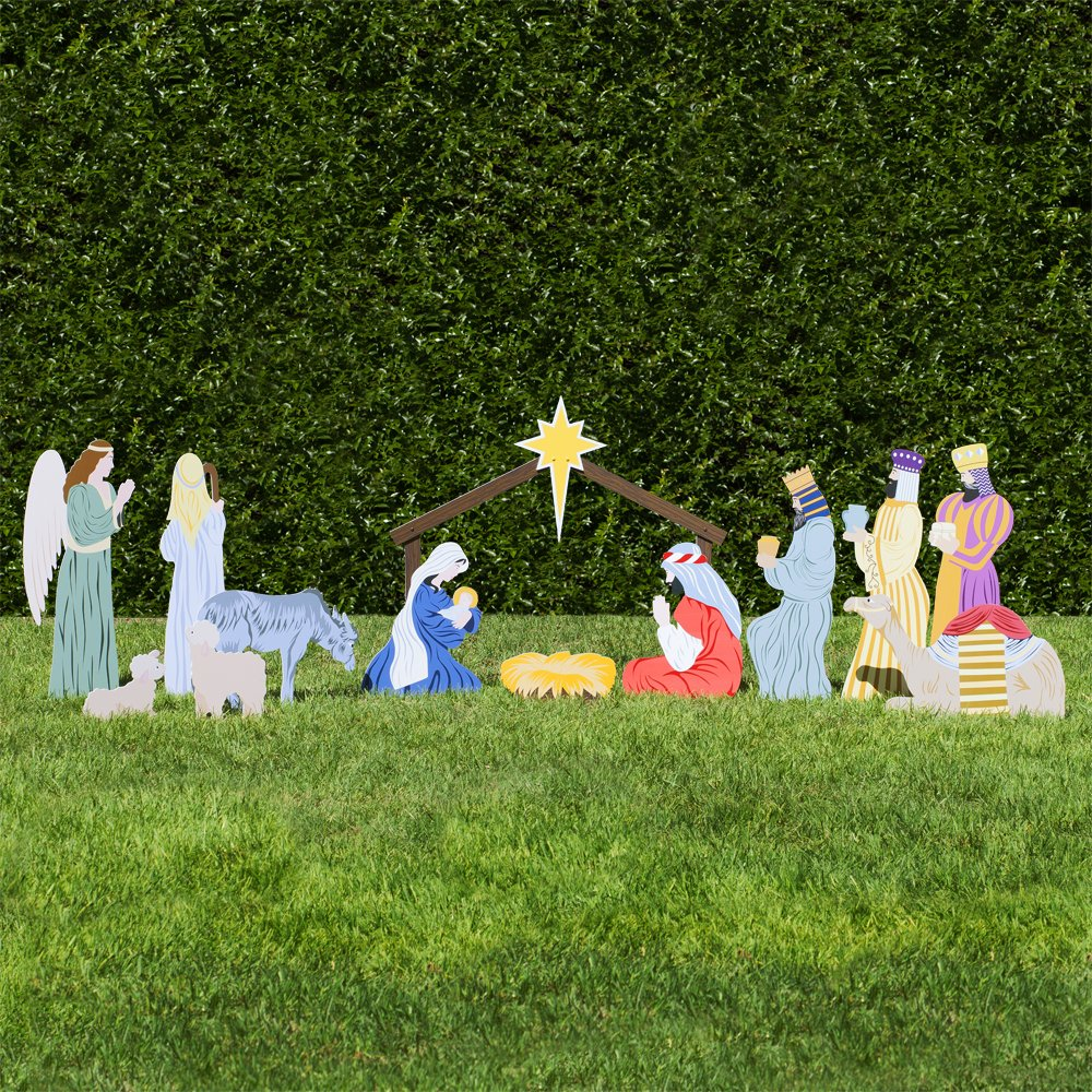 Outdoor Nativity Store Complete Outdoor Nativity Set (Standard, Color) by Outdoor Nativity Store