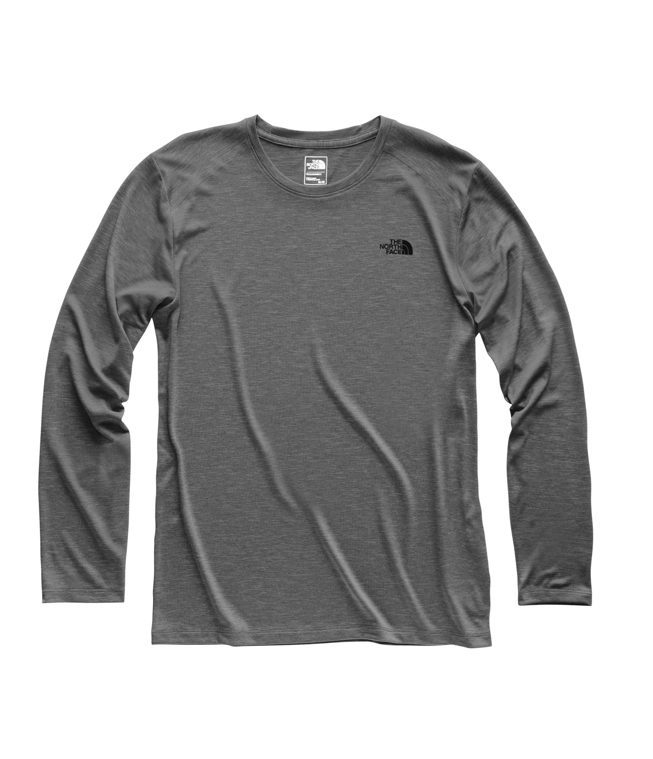 The North Face Men's HyperLayer FD Long Sleeve Crew, TNF Dark Grey Heather, Size S by The North Face