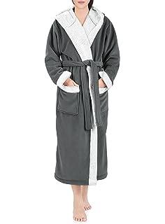 Genuwin Unisex Bata con Capucha para Hombre y Mujer - Albornoz de Lujo de Doble Cara