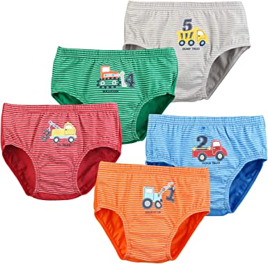 Auranso Boys Underwear Toddler Boxer Briefs Striped Car Truck Pattern Boy  Shorts Underpant 2-12 Years: Amazon.co.uk: Clothing