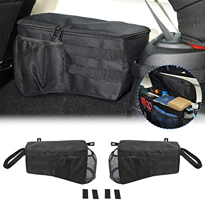CheroCar Storage Bag Cage with Multi-Pockets Organizers for Jeep Wrangler JK Trunk Organizer 2007-2020 Tool Kits 4 door.Interior Accessories.: Automotive