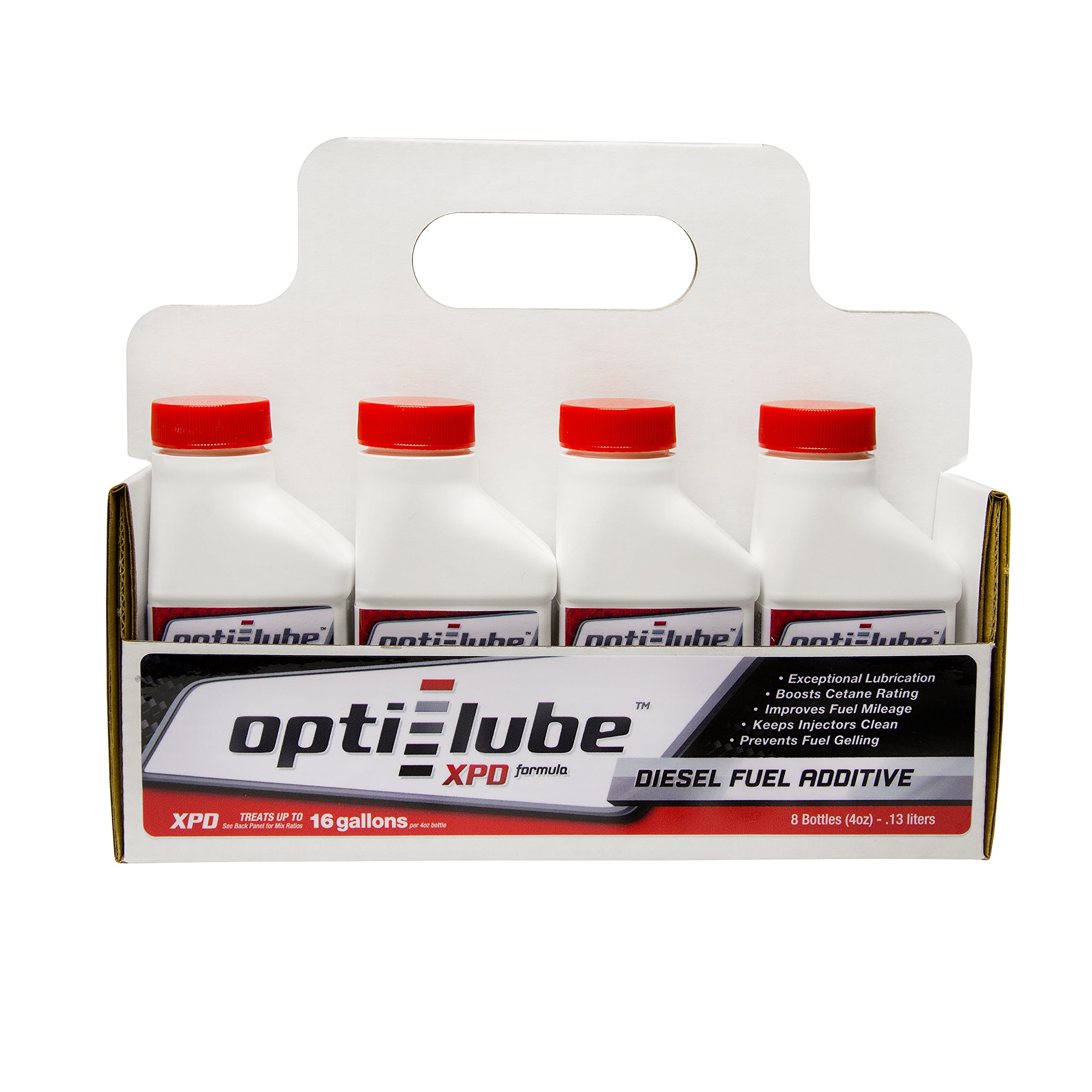 Opti-Lube XPD Formula Diesel Fuel Additive: 4oz 8 pack Treats up to 16 Gallons per 4oz bottle