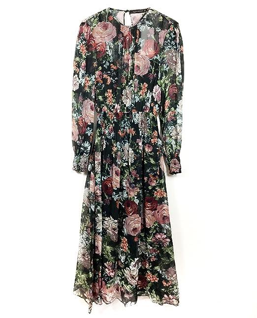 Zara - Vestido - para mujer negro L
