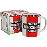 PROPER YORKSHIRE GIANT TEA MUG - Huge XL Coffee Cup - Kitchen Office Home Gift by Pop Art Products