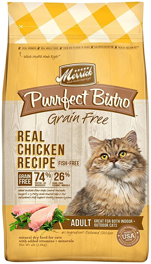 Merrick Purrfect Bistro Healthy Adult Chicken - 4lb