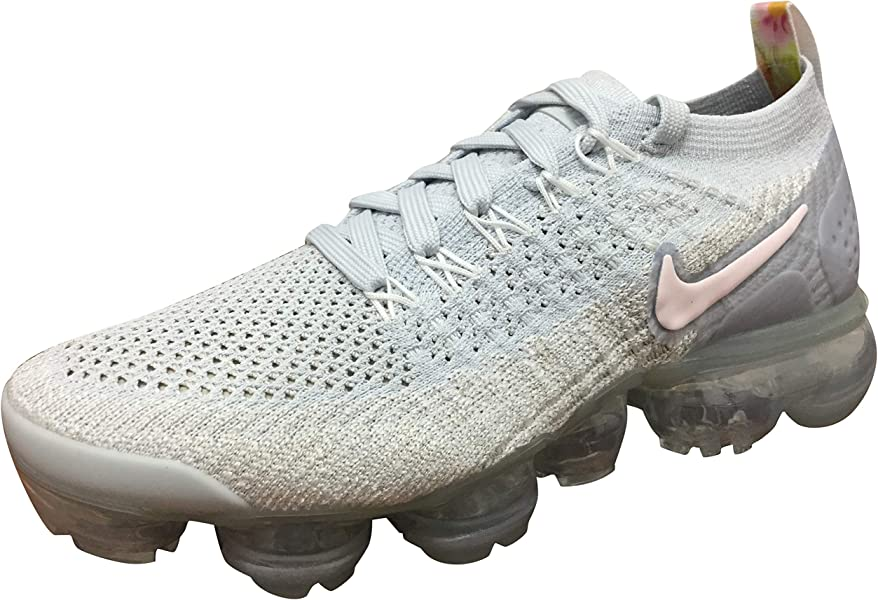 new concept fee06 7beda Nike Womens Air Vapormax Flyknit 2 Pure Platinum/Arctic Pink-White Size 10