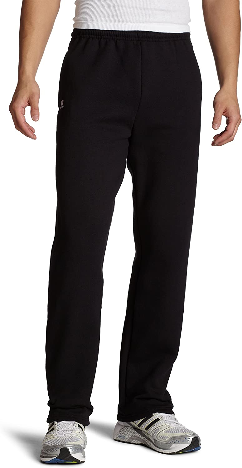 Russell Athletic Men's Dri-Power Open Bottom Sweatpants with Pockets at  Men's Clothing store
