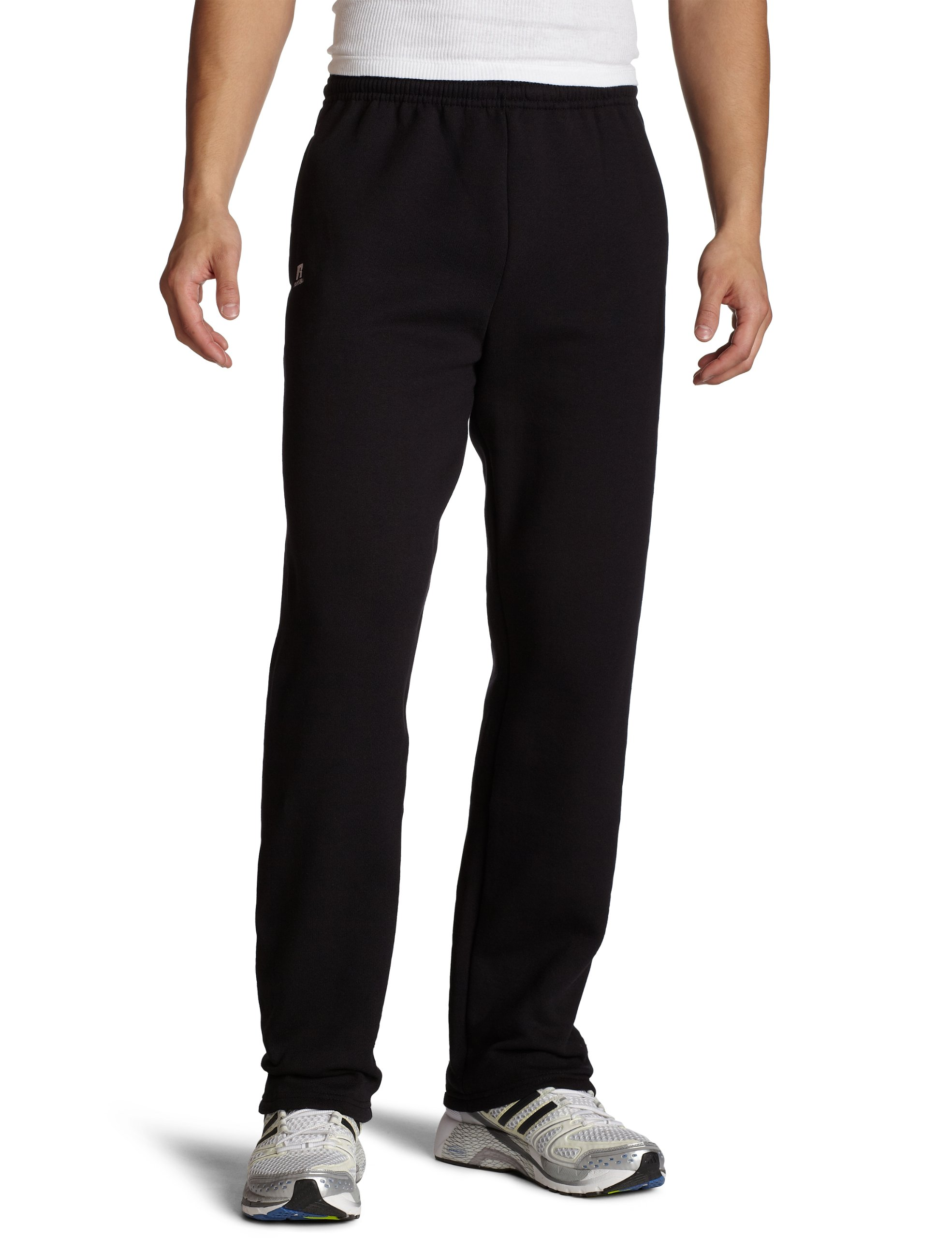 Russell Athletic Men's Dri-Power Open Bottom Sweatpants with Pockets, Black, X-Large