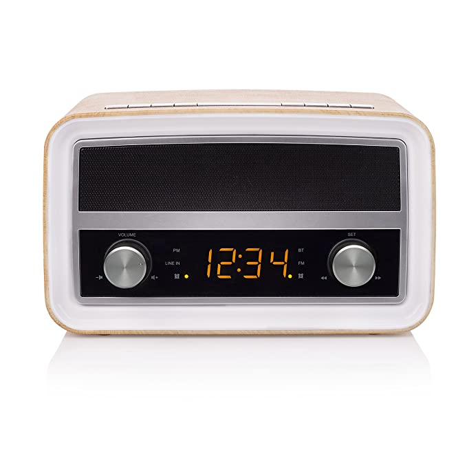 Smartwares RD-1535 - Radio retro, Bluetooth, USB, entrada auxiliar, función de alarma: Amazon.es: Electrónica