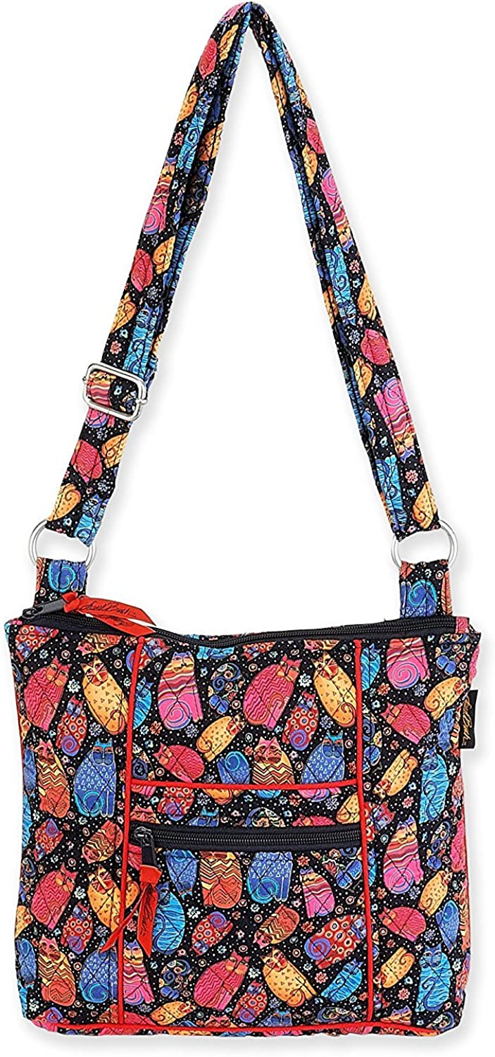 Laurel Burch Quilted Cotton N/S Crossbody Bag