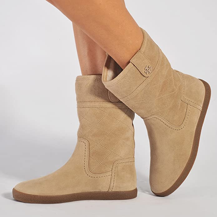 80ef7efa4820a Amazon.com  Tory Burch Alana Suede and Shearling Lined Boots