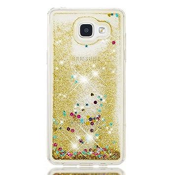 Prechkle Serie Blingbling Cubierta del Teléfono para Samsung Galaxy A5(2016)/A510 Carcasa Transparente, Brillantina Que Fluye Flotando En Carcasa ...