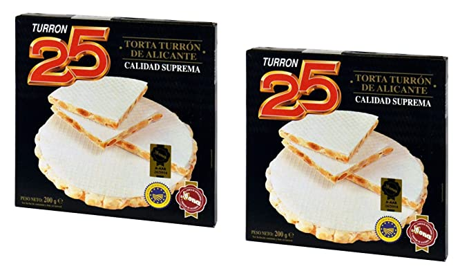 Turron25 - Pack incluye 2 Tortas Turron de Alicante ...