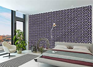 LCGGDB Geometric Wall Stickers Murals,Arful Floral Design Paperhanging Wallpaper for Office Livingroom Girls Bedroom Family Wall Decals-78x55 Inch