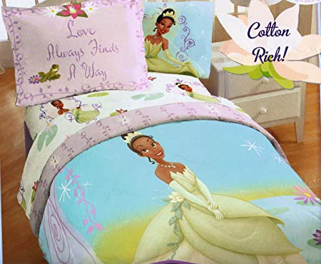 Disney Princess Frog Twin Comforter Set Purple Vine Bedding Amazon