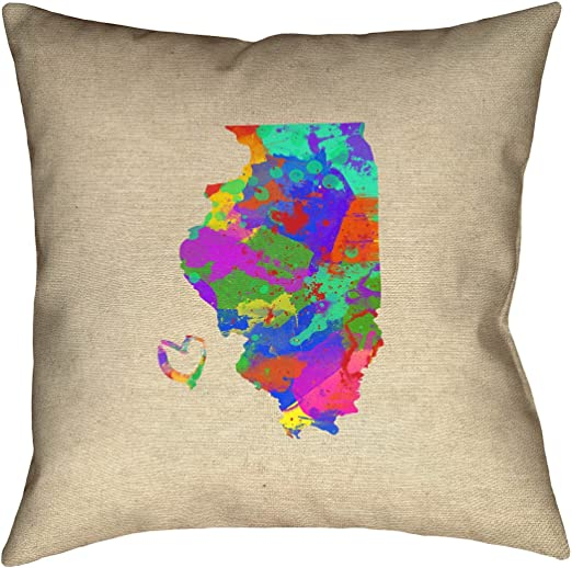 ArtVerse Katelyn Smith 26 x 26 Poly Twill Double Sided Print with Concealed Zipper /& Insert California Love Pillow