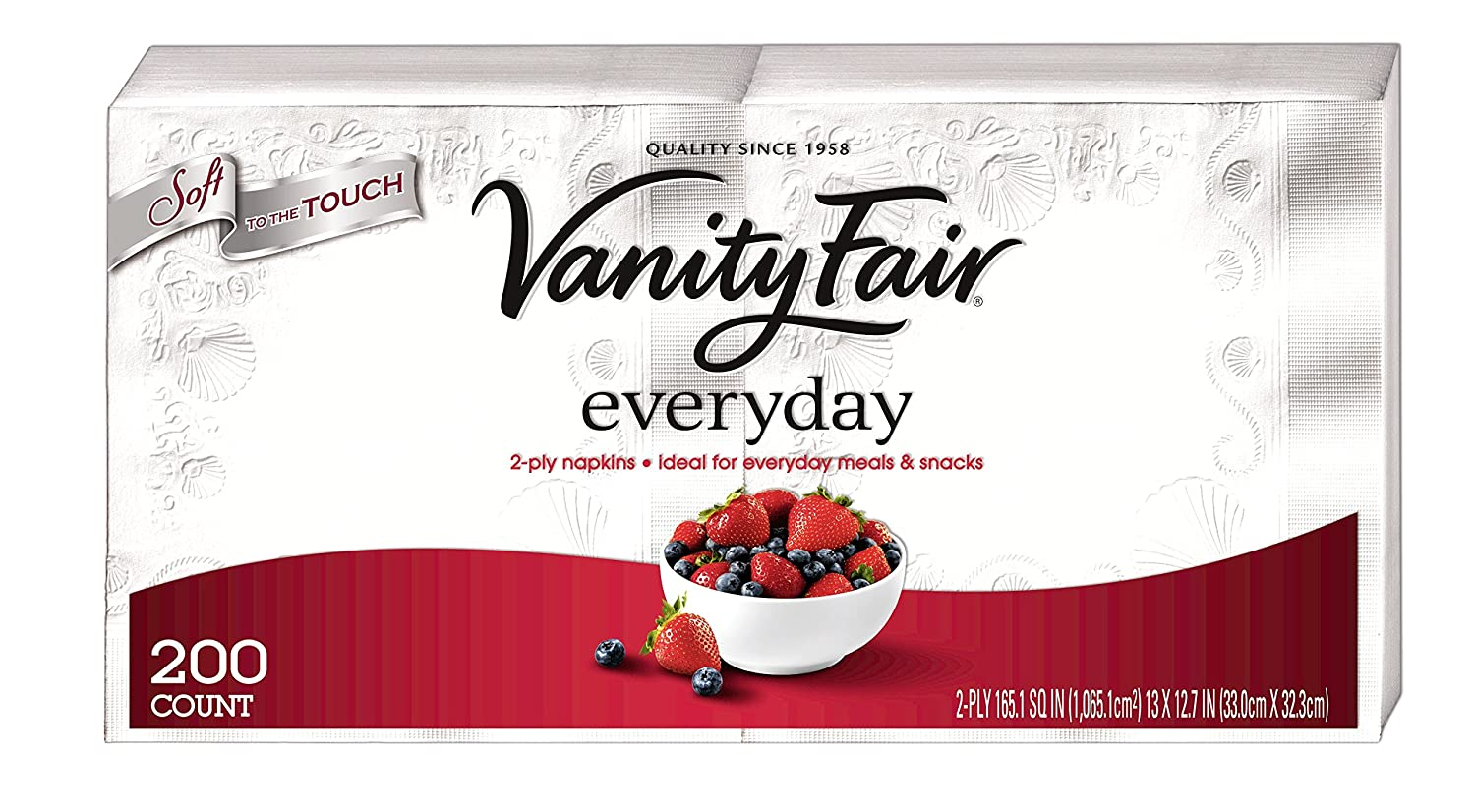 Amazon: Vanity Fair Everyday Napkins, 400 Count Paper Napkins (2 Packs  Of 200 Napkins): Health & Personal Care