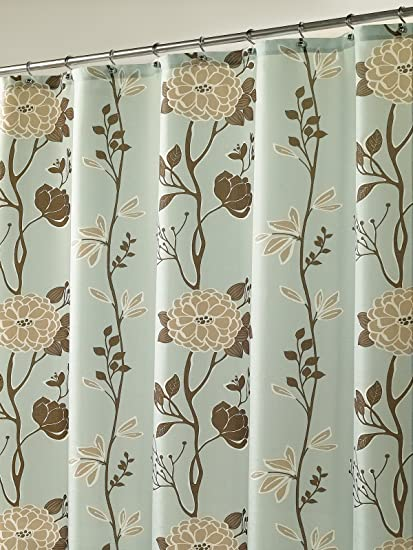Cassandra Blue Fabric Shower Curtain By MStyle 72quot