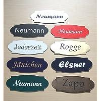 Bell bord, brievenbus bord, deur bord zelfklevend, incl. gravure